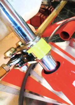 Protector barra de dirección en kart BRM