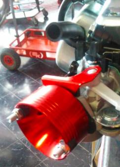 Filtro de aire con casquillo adaptador motor 4 Tiempos