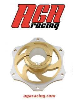 portacoronas aluminio oro eje 40mm aga racing tienda karting