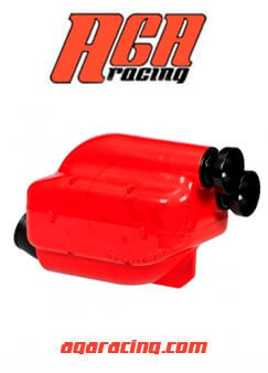 Filtro Aire NOX2 30mm Rojo/Negro CIK AGA Racing tienda online karting