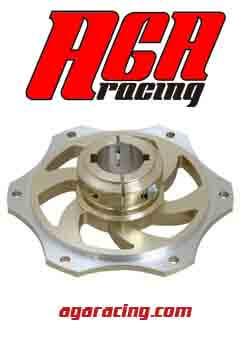 portacorona de aluminio para eje de 30mm AGA Racing tienda de karting