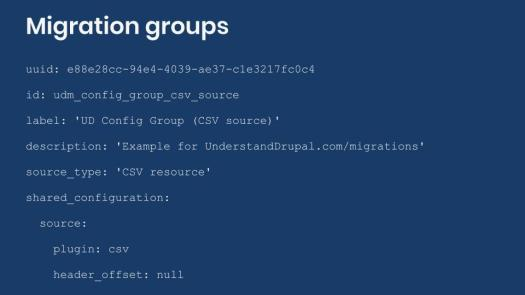 Example definition of a migration group.