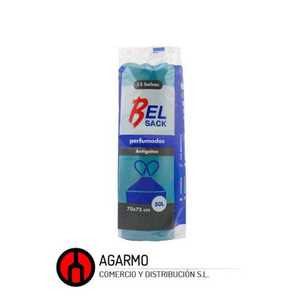 Bolsa basura azul autocierre g75 70x75-50-l-15