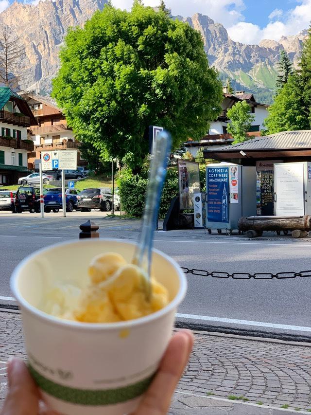 Gelato em Cortina d'Ampezzo