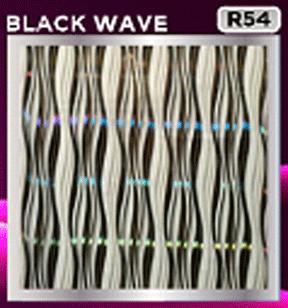 plafon pvc motif black wave