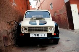 Car parked on tiny street in Medina