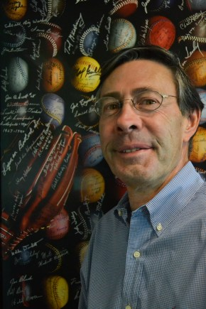 Marc Appleman poses for a picture in the SABR office in downtown Phoenix, on August 13, 2015.