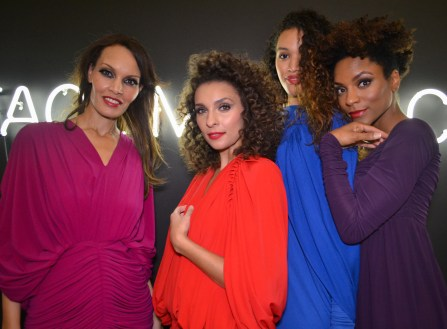 Models show the different colors for the fall fashion season at the La Dolce Vita Garden Party at the Phoenix Art Museum in Phoenix on November 6, 2015.