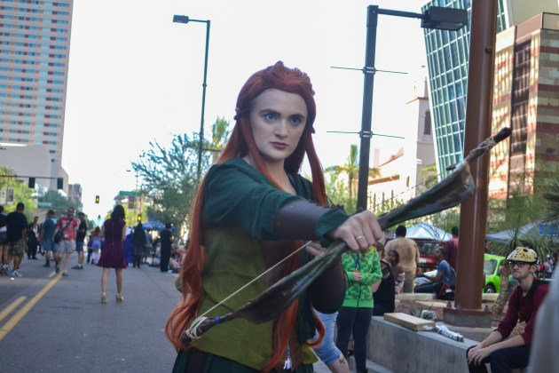 Savannah Wilson poses for a picture at Comicon in downtown Phoenix Saturday afternoon.