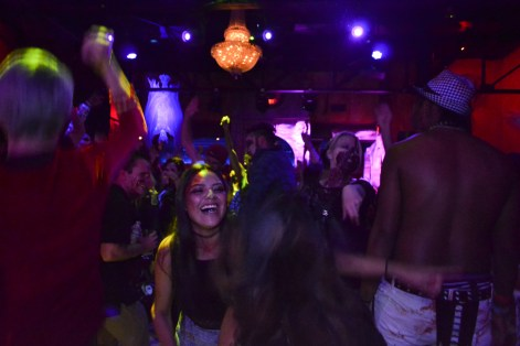 Zombies dance the night away during the Zombie Ball event at Club Palazzo in Phoenix, Arizona on October 16, 2015