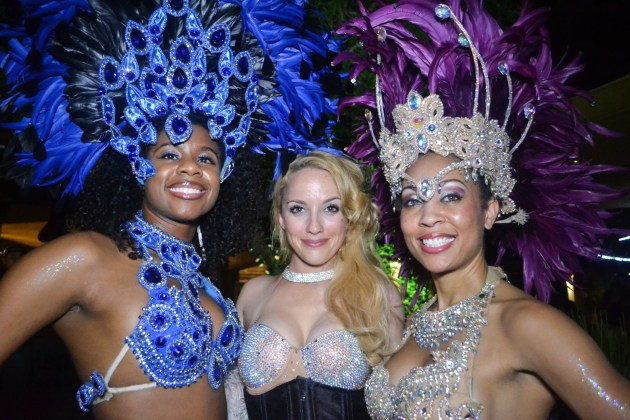 SambAZ dancers pose for a picture at First Friday in downtown Phoenix on September 4, 2015.