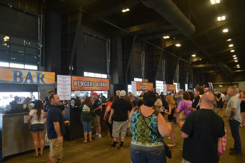 Patrons decide what food they want to eat at the Scottsdale Beer Palooza on June 20, 2015.