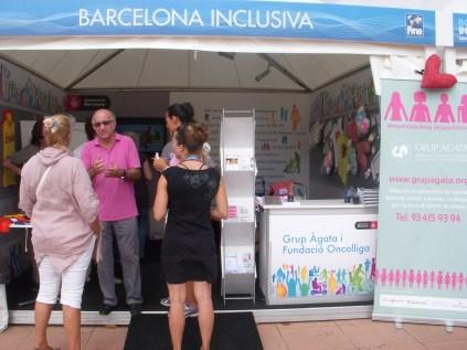 Estand Barcelona Inclusiva; Grup Àgata i Oncolliga