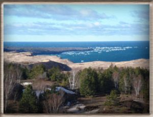 View of Au Sable Point from the south side of the Dunes