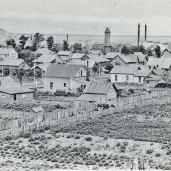 Bird's eye view of Grand Marais during its heyday