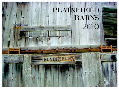 Front page, Plainfield Barns Calendar. Photo courtesy Dario Coletta