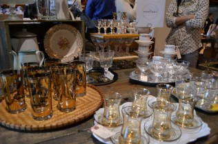 Gorgeous vintage glassware from Dinner Party