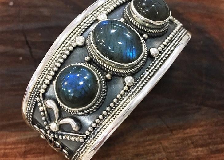 Bracelete Labradorita 3 Pedras