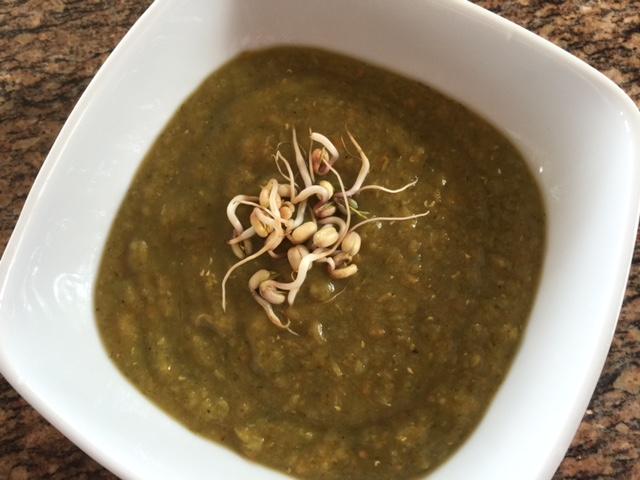 Χορτοφαγική Πράσινη σούπα