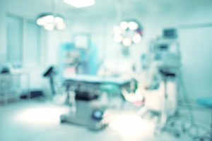 Blurred background of modern operating room at hospital
