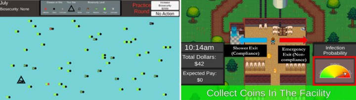 Experimental game simulations