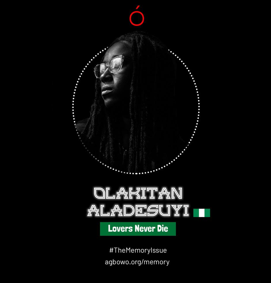 Olakitan Aladesuyi The Memory Issue Agbowo Art Magazine