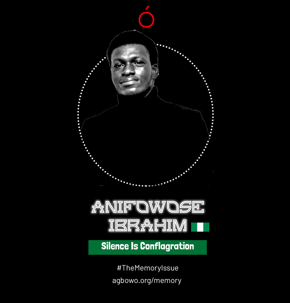 Anifowose Ibrahim The Memory Issue Agbowo Art Magazine