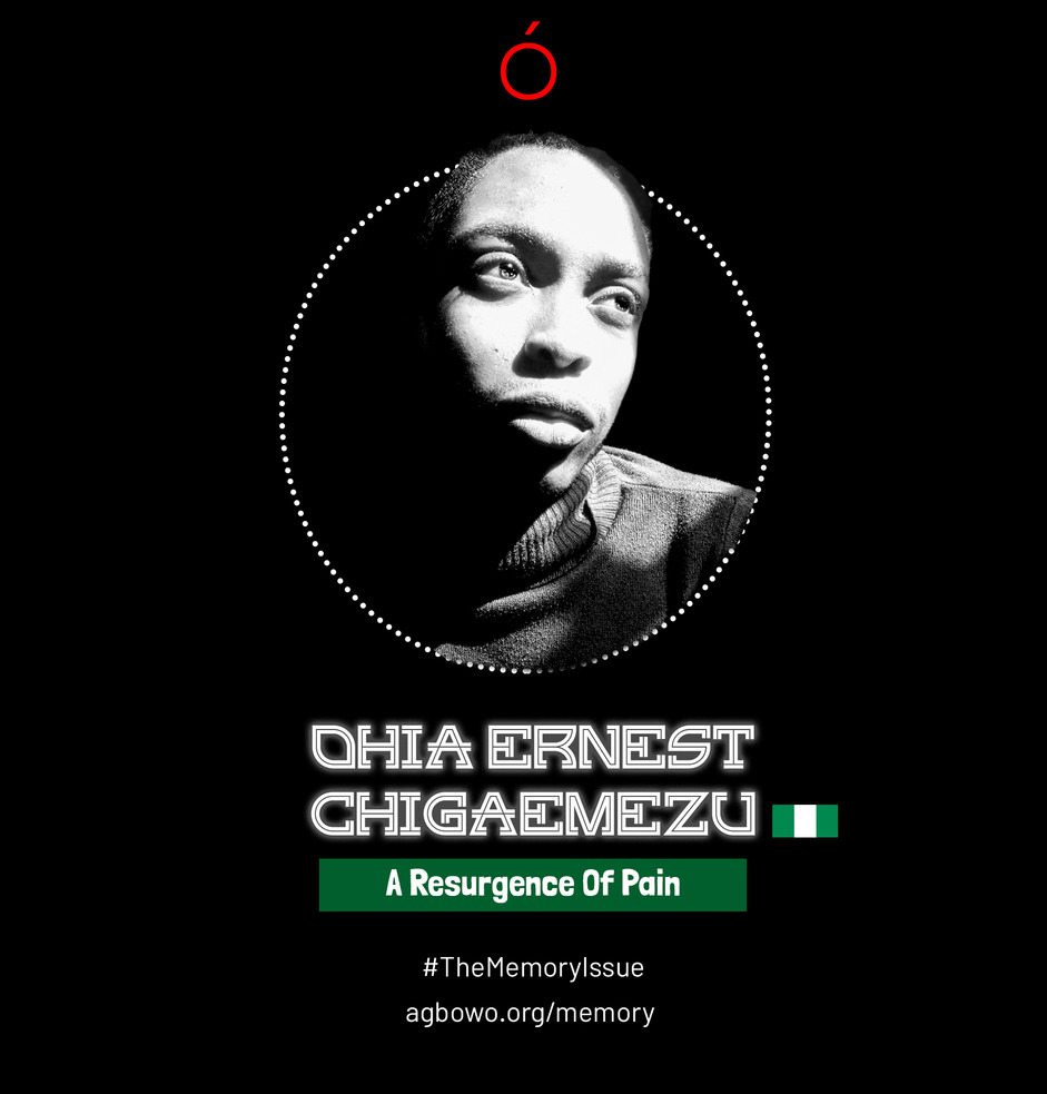 Ohia Ernest Chigaemezu The Memory Issue Agbowo Art Magazine