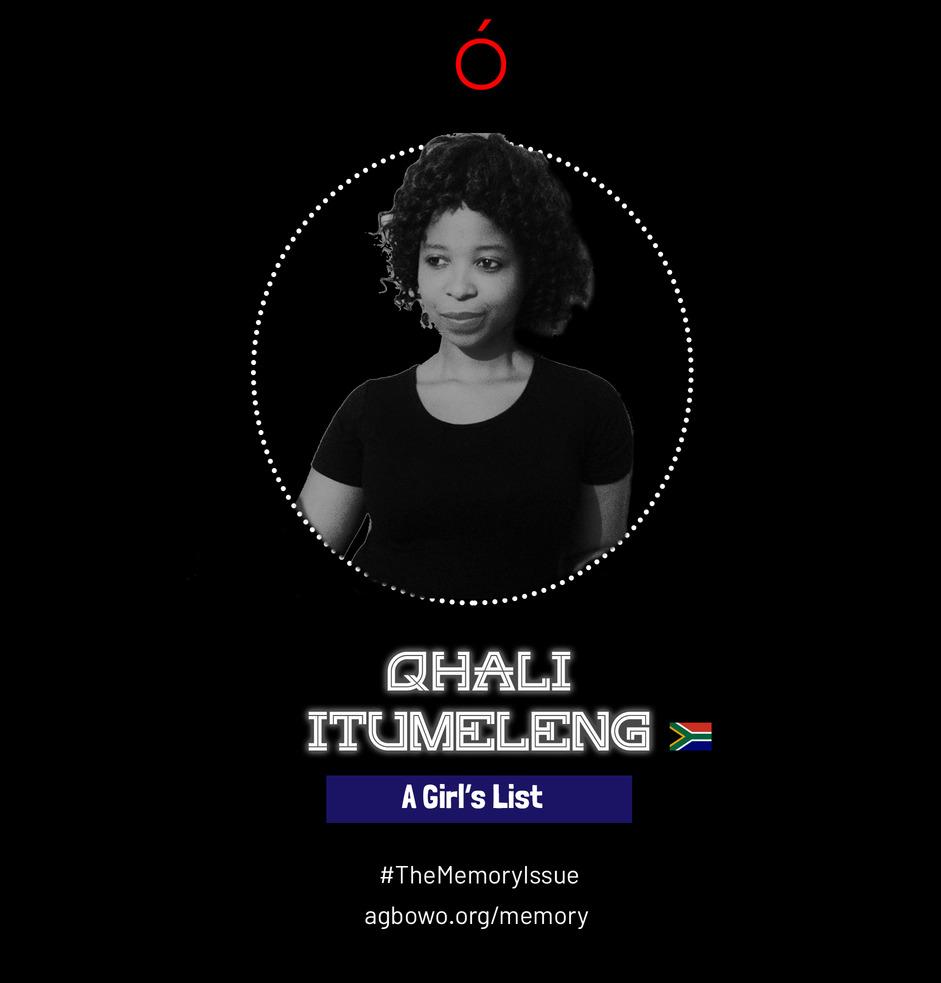Qhali Itumeleng The Memory Issue Agbowo Art Magazine