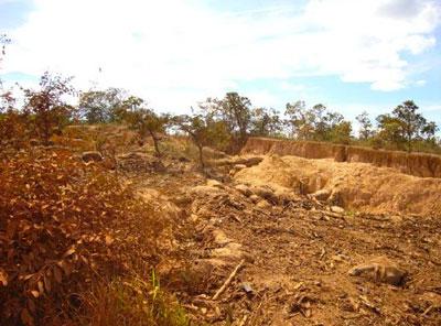 Solo degradado na região de Morada Nova de Minas