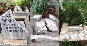 Antalya'nın Teomanpaşa Mahallesi'ndeki mezarlıkta Alevilere ait 20'ye yakın tahrip edildi.