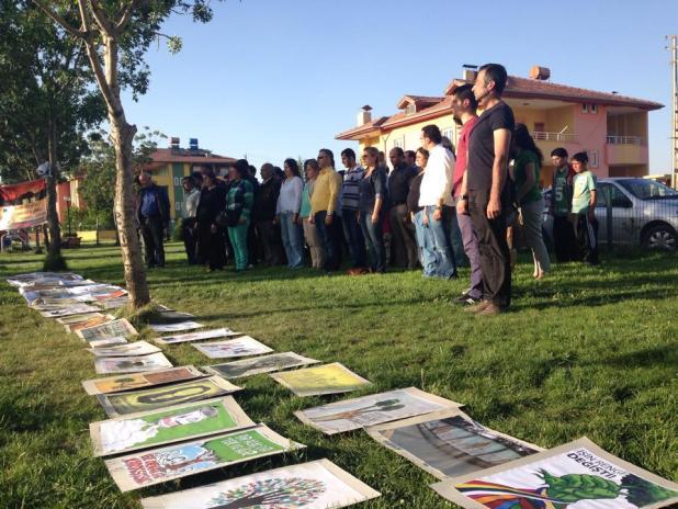 Gezi direnişininin yıldönümünde Elbistan da eylem