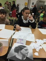 This student chose to study Susan B. Anthony. We were thrilled to see our students equally engaged by the narratives of Susan B. Anthony and Malala Yousafazi, or Rosa Parks and Barack Obama.