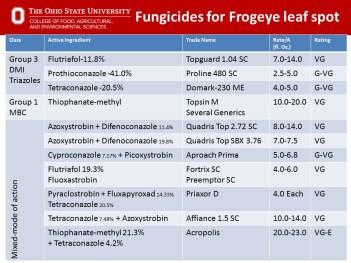 Fungicides for Frogeye Leaf Spot