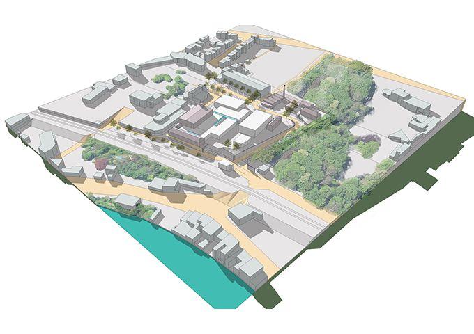 Maxeville : Vue aérienne du site des Grandes Brasseries
