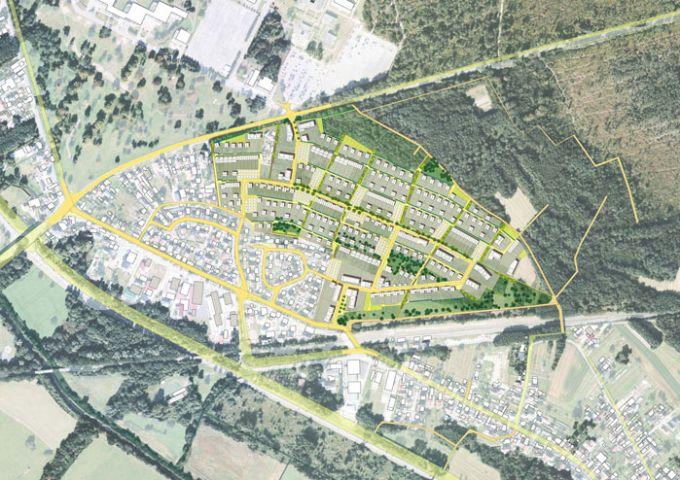 Plan masse indicatif du secteur Binsen à terme