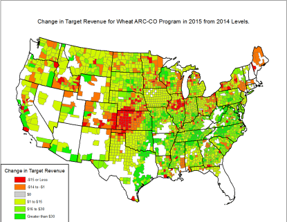 wheat arc co payment changes. ag trend. Agricultural Economic Insights