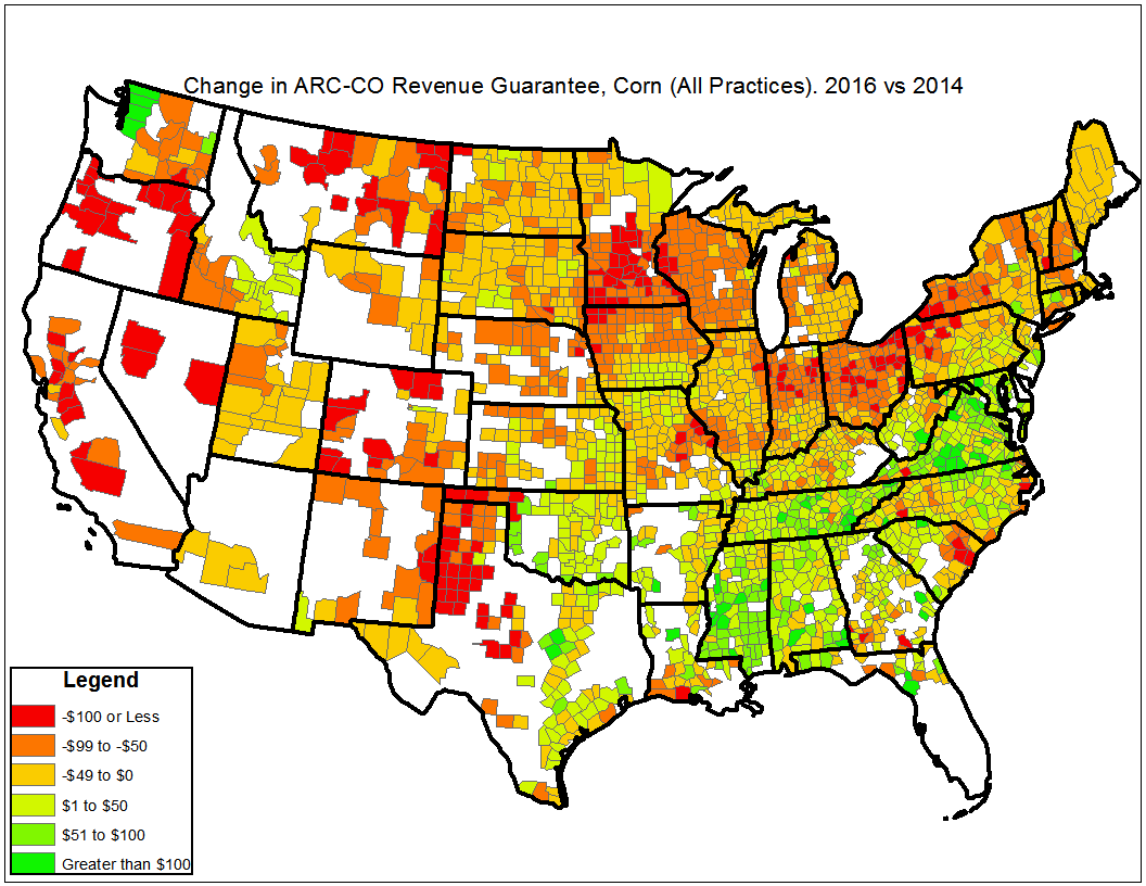 Corn. ARC-CO Revenue Guarantees. Ag Trends. Agricultural Economic Insights
