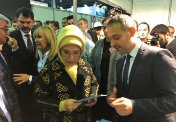 Emine Erdoğan Hanımefendi Ve Bakan Murat Kurum Standımıza Ziyarette Bulundular.