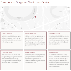 Directions to Grappone Center
