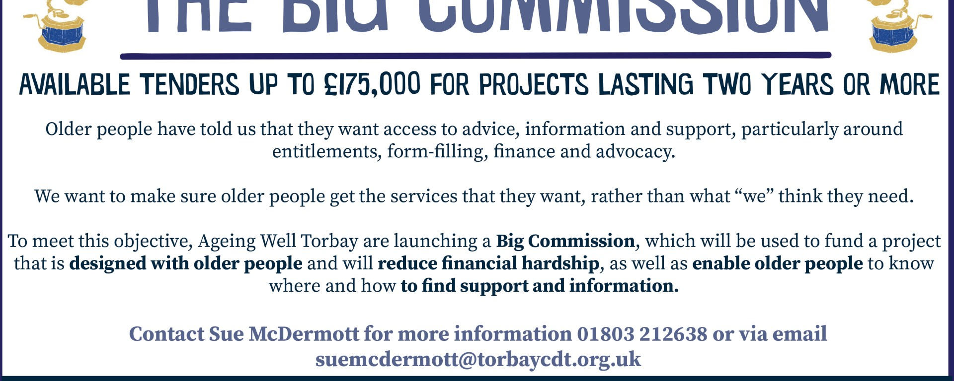 the big commission ageing well torbay funding opportunities big lottery ageing better