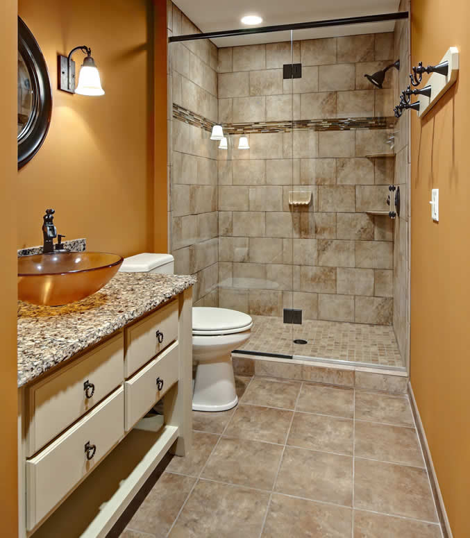 8 Small Bathrooms That Shine | Home Remodeling on Small Bathroom Remodel  id=15269