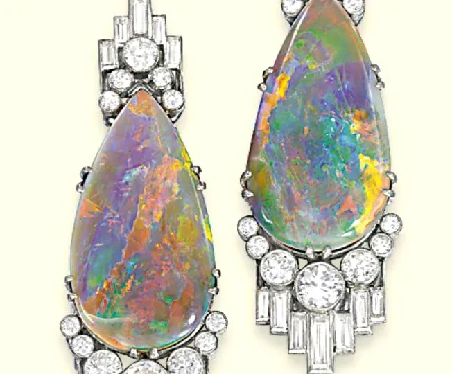 Antique Opal Earrings from Christie's