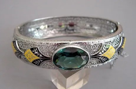 Antique Hinged Bangle Bracelets