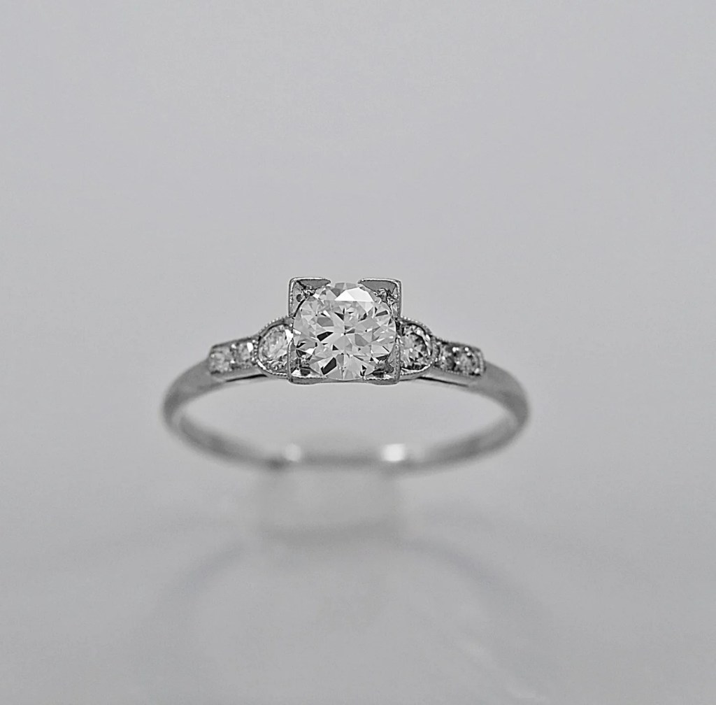 Antique Engagement Rings on Etsy