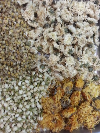 Dried flowers before preparation of toner