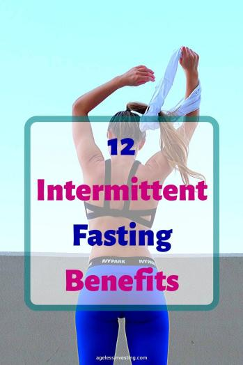 A picture of a fit woman from behind, headline 12 Intermittent Fasting Benefits