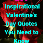"Red roses on a black background, headline ""200 Inspirational Valentine's Day Quotes You Need to Know"" agelessinvesting.com"
