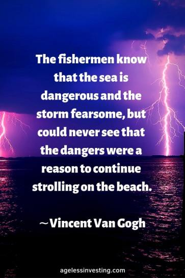 A stormy sea at night, quote