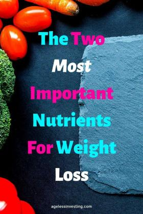 "Fruits and Vegetables, headline ""The two most Important Nutrients For Weight Loss"""